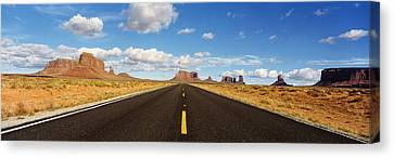 Road, Monument Valley, Arizona, Usa Canvas Print