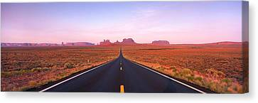Road Monument Valley, Utah, Usa Canvas Print by Panoramic Images
