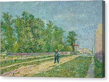 Road On The Edge Of Paris Canvas Print by Vincent Van Gogh