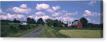 Road Passing Through A Farm, Emmons Canvas Print