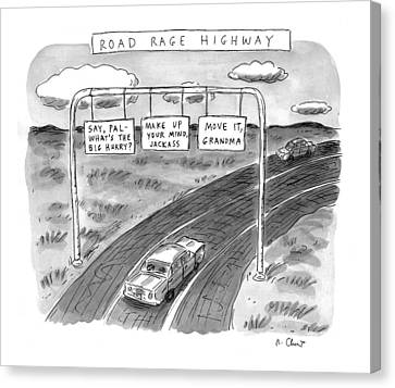 'road Rage Highway' Canvas Print by Roz Chast