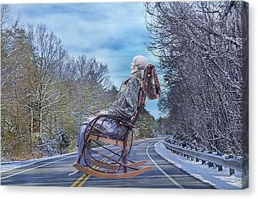 Road Rocker Canvas Print by Betsy Knapp