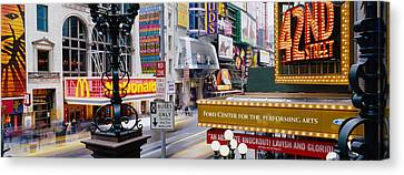 Road Running Through A Market, 42nd Canvas Print by Panoramic Images