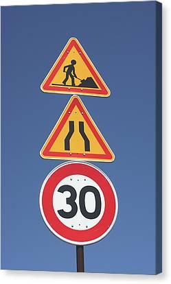 Road Signs Canvas Print