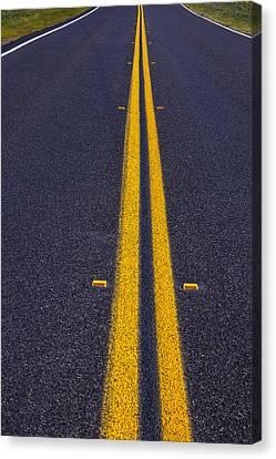 Road Stripe  Canvas Print by Garry Gay