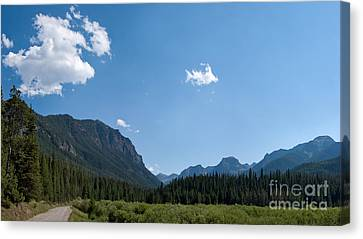 Road Through Hyalite Canyon Canvas Print by Charles Kozierok