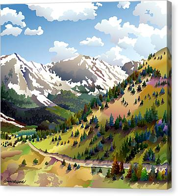 Road To Alma Canvas Print