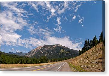 Road To Big Sky Country Canvas Print by Charles Kozierok