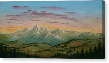 Road To Boulder Canvas Print by J W Kelly