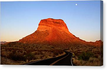 Road To Cerro Castellan Canvas Print
