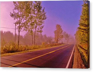 Canvas Print featuring the photograph Road To... by Daniel Thompson