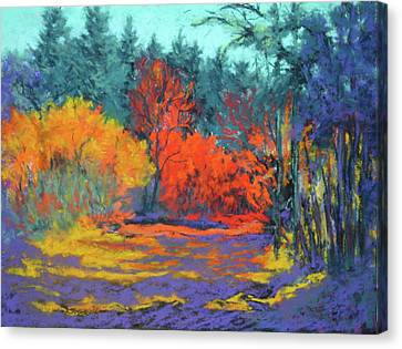 Canvas Print featuring the painting Road To Deer Creek by Nancy Jolley