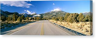Road To Great Basin National Park Canvas Print by Panoramic Images