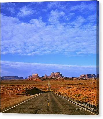 Road To Monument Valley Canvas Print by Alex Cassels