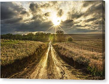 Dirt Canvas Print - Road To Nowhere by Aaron J Groen