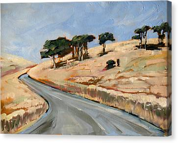 Aotearoa Canvas Print - Road To Okains Bay by Linelle Stacey