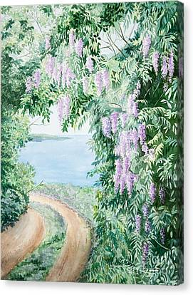 Michelle Canvas Print - Road To Paradise by Michelle Wiarda-Constantine