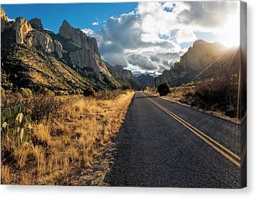 Road To Portal, Arizona Canvas Print by Susan Degginger