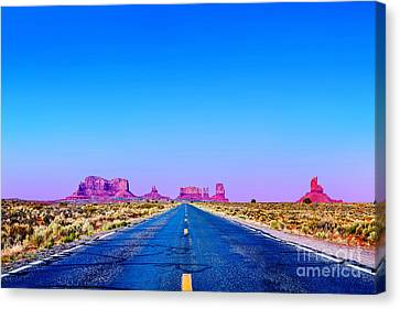 Monument Valley Canvas Print - Road To Ruin 2 by Az Jackson