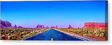 Long Road To Ruin Canvas Print by Az Jackson