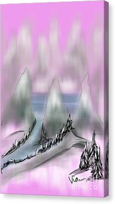 Road To Shangri La Canvas Print by Judy Via-Wolff