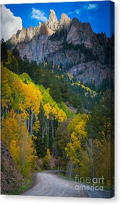 Road To Silver Mountain Canvas Print by Inge Johnsson