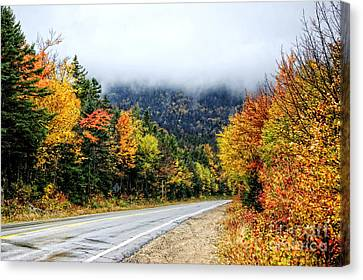 Road To The Clouds Canvas Print