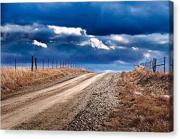 Road To The Clouds Canvas Print by Eric Benjamin