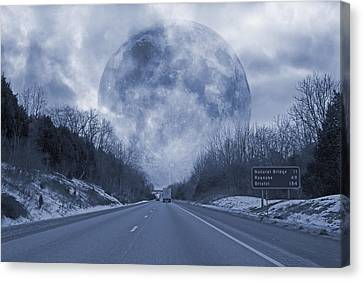 Mystical Landscape Canvas Print - Road To The Horizon by Betsy Knapp