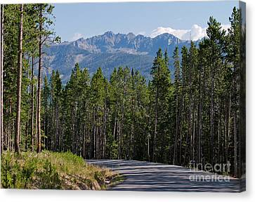 Road To The Mountains Canvas Print by Charles Kozierok
