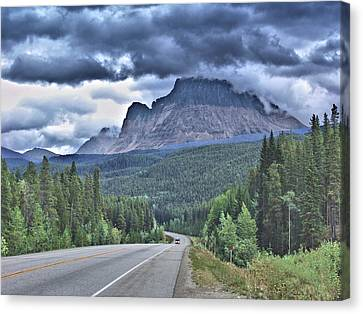 Alpine Canvas Print - Road To The Mountains by Janet Ashworth