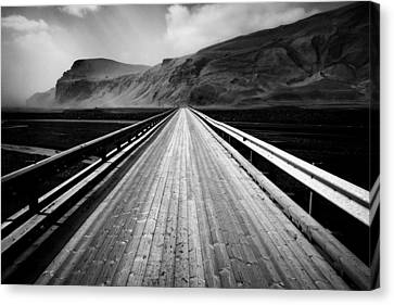 Road To Vik Canvas Print by Dave Bowman