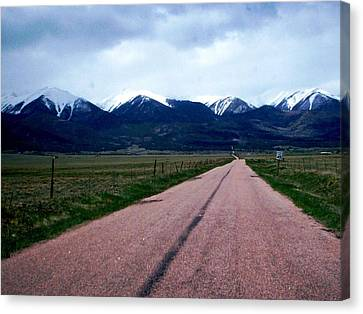 Road To Westcliffe Canvas Print by Carlee Ojeda