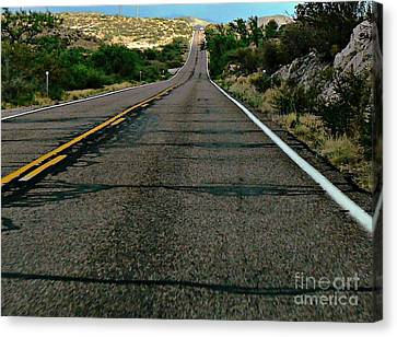 Canvas Print featuring the photograph Road Trip by Lin Haring
