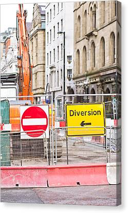 Road Works  Canvas Print by Tom Gowanlock