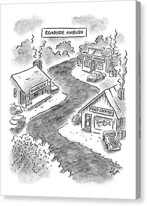 Roadside Ambush Canvas Print by Frank Cotham