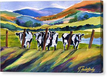 Roadside Cows Near San Luis Canvas Print by Therese Fowler-Bailey