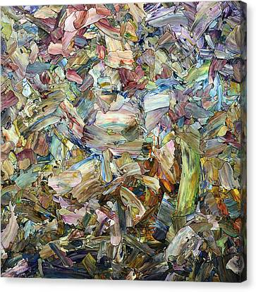 Canvas Print featuring the painting Roadside Fragmentation - Square by James W Johnson