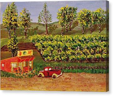 Roadside Fruits And Veggies Canvas Print by Mike Caitham