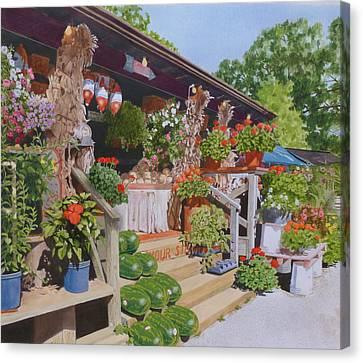 Roadside Stand Canvas Print by Constance Drescher