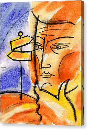 Sun Rays Canvas Print - Roadway by Leon Zernitsky