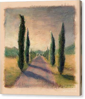 Roadway To Somewhere Canvas Print by Logan Gerlock