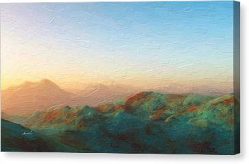 Roaming Hills And Valleys 2 Canvas Print