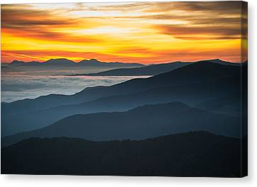 Canvas Print featuring the photograph Roan Mountain Sunrise by Serge Skiba