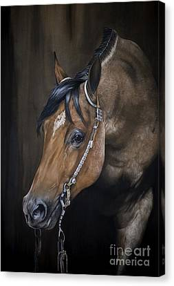Horse Pastels Canvas Print - Roanie by Joni Beinborn