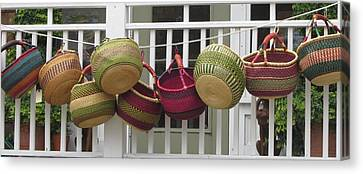 Roanoke Baskets Canvas Print by Cathy Lindsey