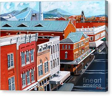 Roanoke City Market Canvas Print by Todd Bandy