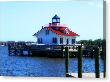 Roanoke Marshes Light 4 Canvas Print by Cathy Lindsey