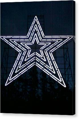 Roanoke Star By Angelia Clay Canvas Print by Angelia Hodges Clay