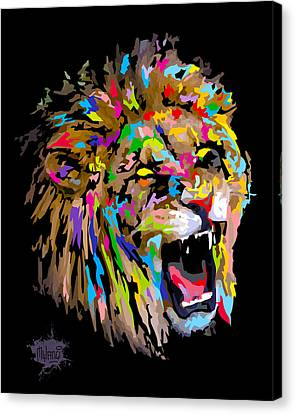 Canvas Print featuring the digital art Roar by Anthony Mwangi